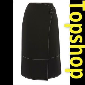 🆕Topshop Stitch wrap skirt